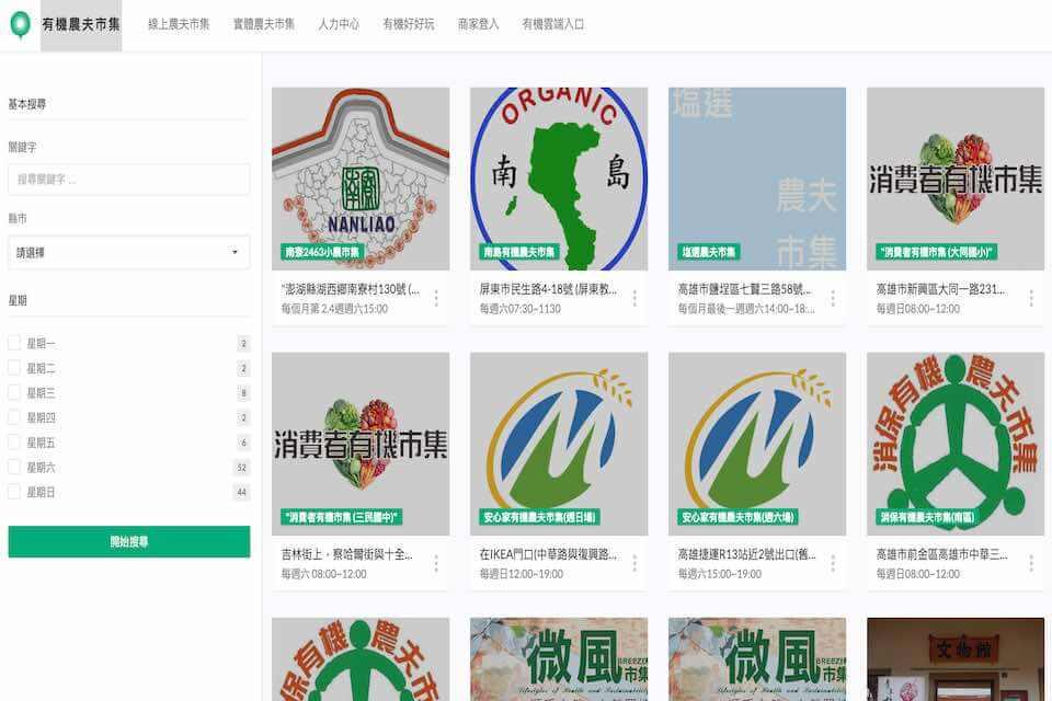 台灣のオーガニックマーケット情報