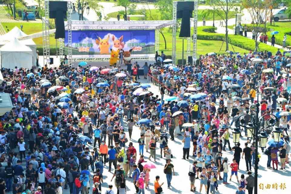 台南で行われたポケモンGOのイベント